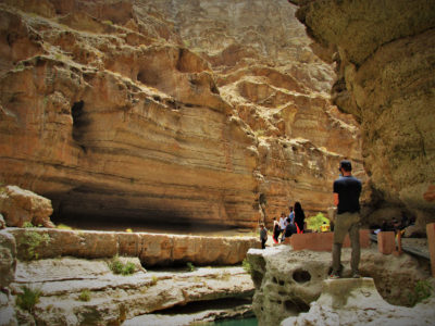 Wandering through earth's hidden valleys, Wadi Shaab, Oman